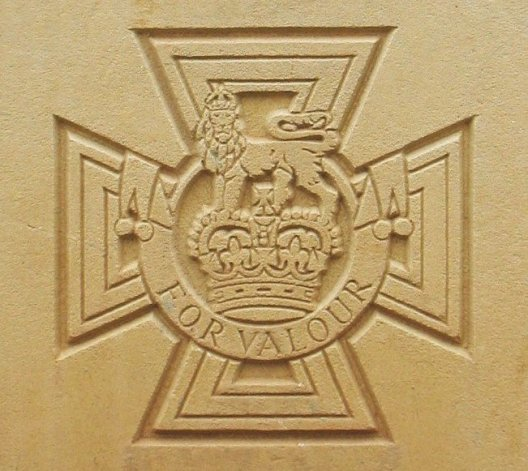 Image of the Victoria Cross as it appears on Commonwealth War Graves Commission headstones
