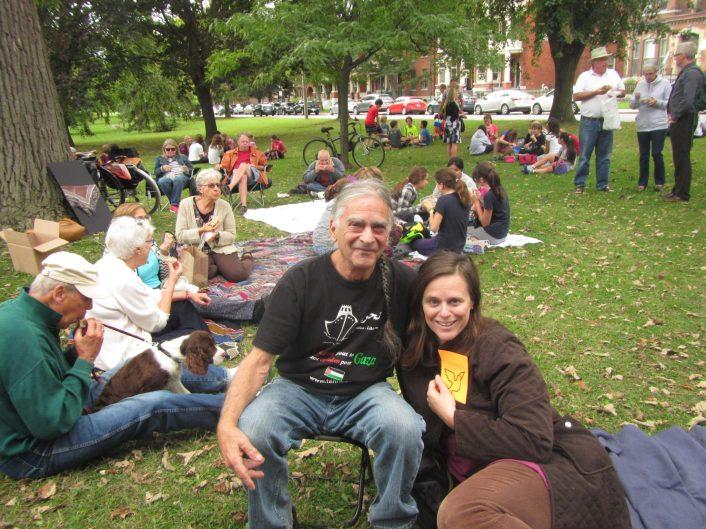 PeaceQuest volunteers George Biro and Willa Thayer.