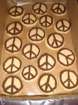 Thanks to Tennille, Terri, and Larry, we were also able to serve peace cookies at the September 20th Garden Tour reception.