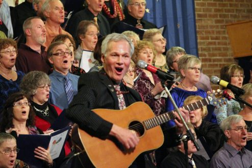 Kingston's Open Voices Community Choir often performs songs about peace and war.