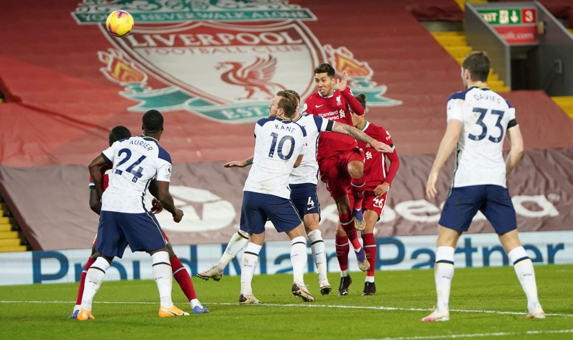 Football: Last gasp Roberto Firmino header sends Liverpool top