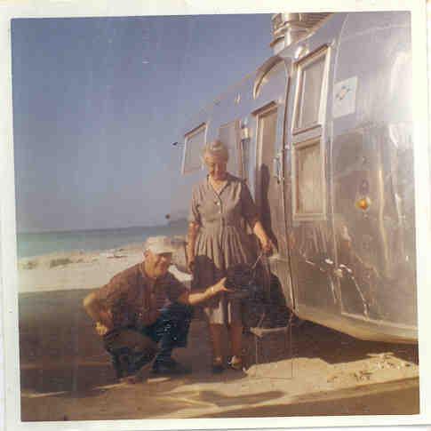 Airstream Grandma at the Beach