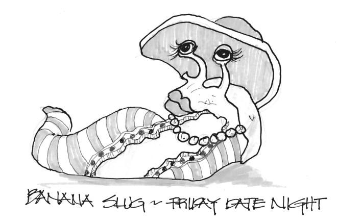 Banana Slug ready for a hot date