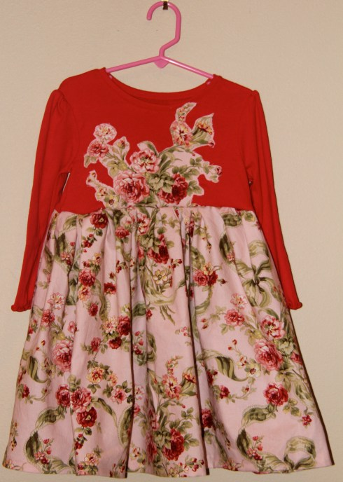 T-Shirt dress with flowers