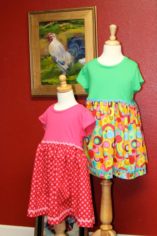 New Dresses for Holly & Leah