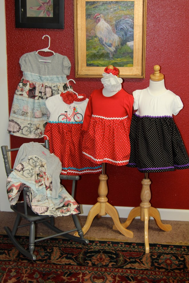 Five Little Dresses all in a Row