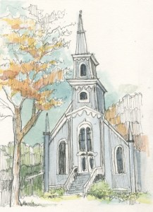 Port Gamble Church in Color