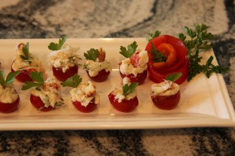 Crab Mayo Stuffed Cherry tomatoes