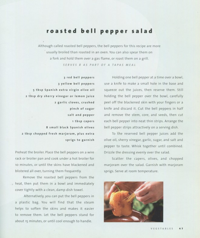 Roasted Bell Pepper Salad Recipe
