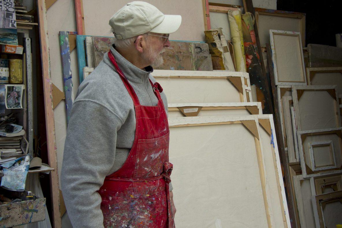 artist Graham Boyd in Studio