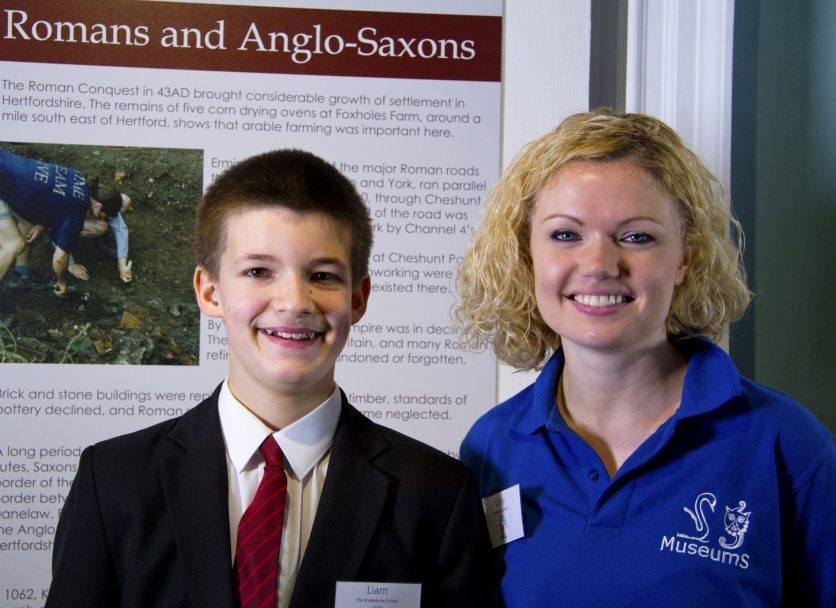 Carly Hearn and Broxbourne School Student