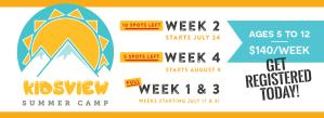 Kidsview Summer Camp Promo Image