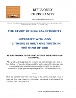 02 Integrity With God  – There Is Only One Truth In The Mind Of God – A5 final