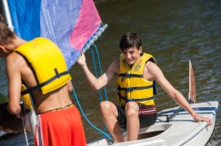 sailing clinic water lake boys summer camp kingswood