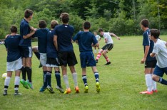 soccer game competitive