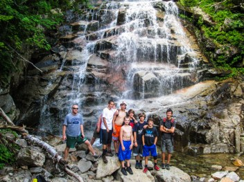 nature hiking trips waterfall mountains new hampshire Appalachian trail boys summer camp