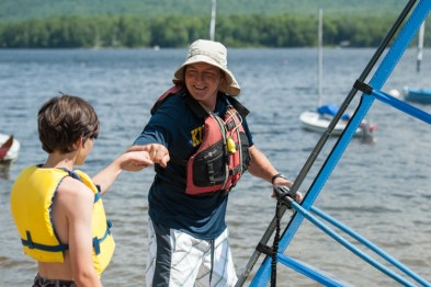 waterfront clinic windsurfing lake water boys summer camp