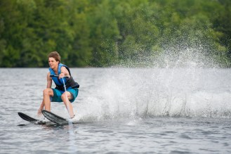 waterskiing clinic water lake new hampshire mountains new england sleepaway camp