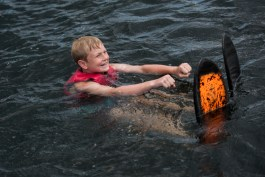 Learning proper waterskiiing form