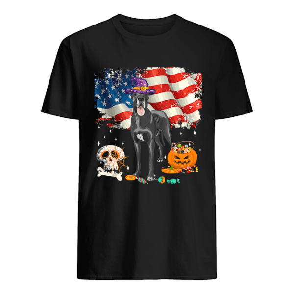 Great dane Dog Halloween Costume Gift Flag America T-Shirt Classic Men's T-shirt