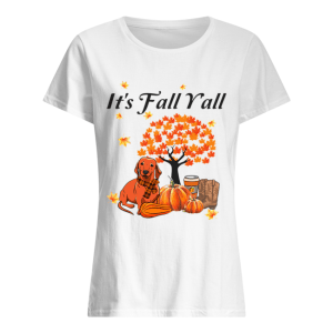 It's Fall Y'all Dachshund Halloween Funny Dog Lover T-Shirt Classic Women's T-shirt