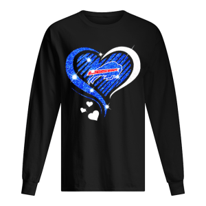 Buffalo Bills Diamond heart  Long Sleeved T-shirt