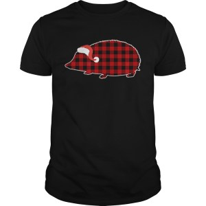 Hedgehog Christmas Buffalo Plaid Pajamas  Unisex