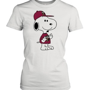 Snoopy Cleveland Cavaliers NBA Double Middle Fingers Fuck You  Classic Women's T-shirt