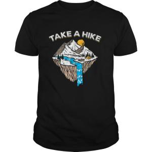 Take A Hike Outdoor Sunset Vintage Style Mountains Nature shirt