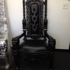 Kings Chair For Sale Bungee Container Store Royal King Throne Rental And Queen Chairs Black