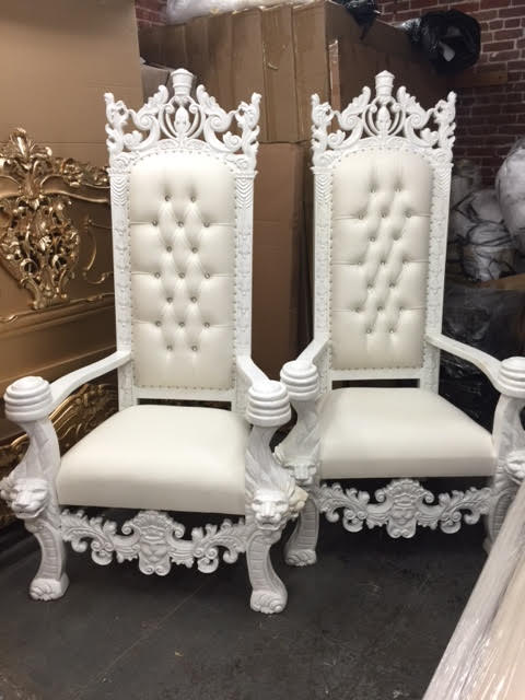 whitethronechair  King Queen Throne Chairs 8186364104