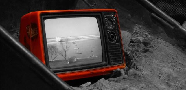 発展途上の古いテレビ