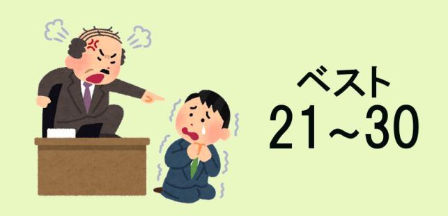 社員を追い込む上司の言動ベスト21~30