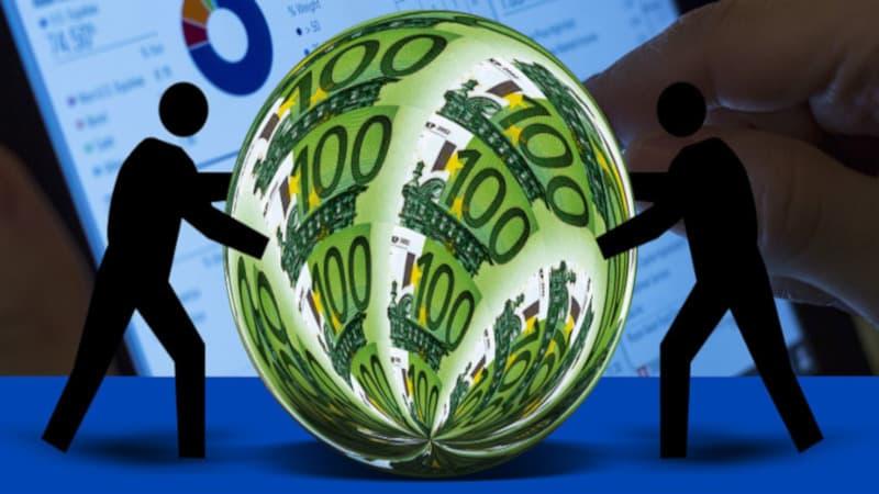 人の影によって球体化されたユーロ