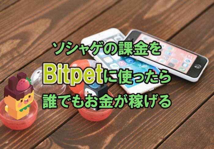 ソシャゲの課金をBitpet(ビットペット)に使ったら誰でもお金が稼げる