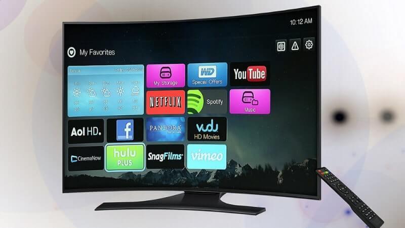 動画配信サービスがたくさん表示されているテレビ