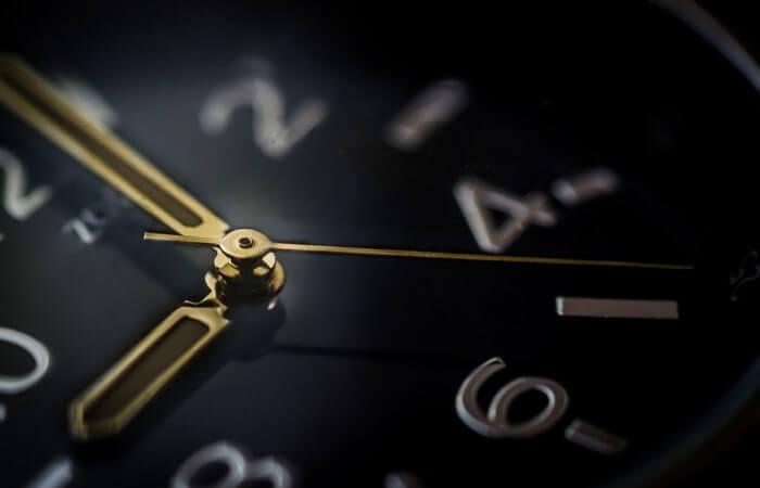 時計のアップ画像