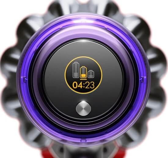 液晶ディスプレイに表示された運転時間