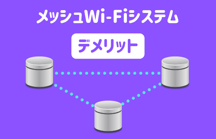 メッシュWi-Fiシステムのデメリット
