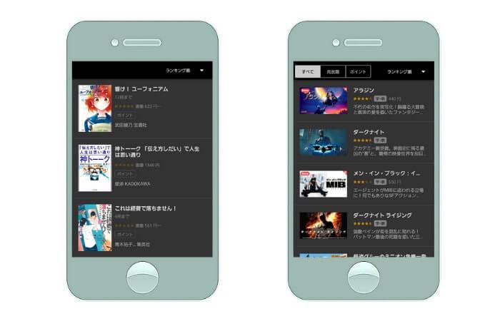 U-NEXTアプリで動画も書籍も利用可能