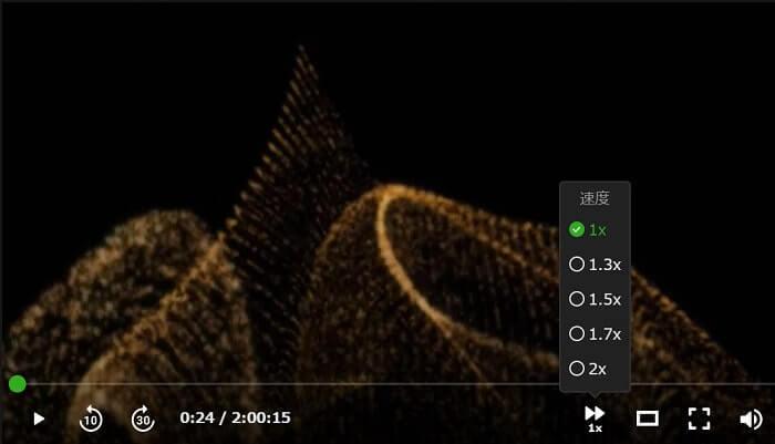 倍速再生で動画視聴可能