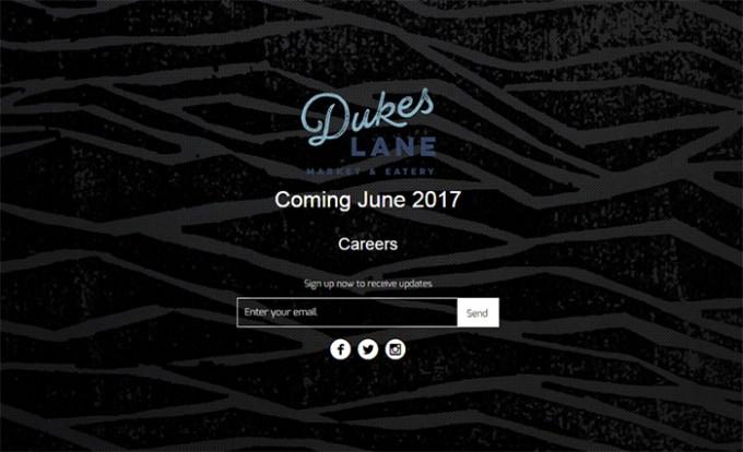 Dukes Lane Market & Eatery(デュークス・レーン・マーケット&イータリー)オープンは?