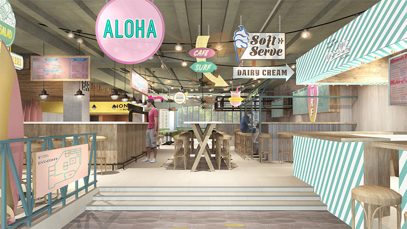 ロイヤル・ハワイアン・センターに「WAIKIKI FOOD HALL Co.(ワイキキ・フードホール)」が2020年3月オープン予定!