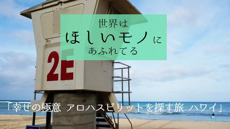 6月11日(木)NHK総合1「世界はほしいモノにあふれてる」は「幸せの極意 アロハスピリットを探す旅 ハワイ」だそうです。