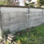 万年塀の補修・金属補強工事
