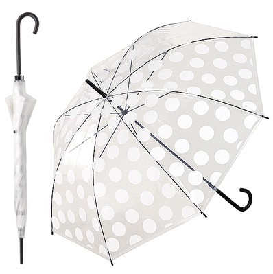 かわいいビニール傘 水玉ドット