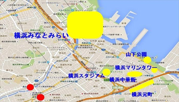 横浜観光地が徒歩圏 みなとみらい・中華街・元町・山下公園・マリンタワー・横浜スタジアム