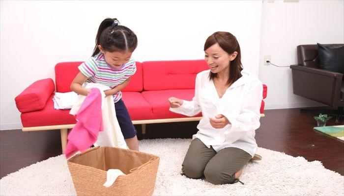 小学生 夏休みのお手伝い 我が家での洗濯物の例え