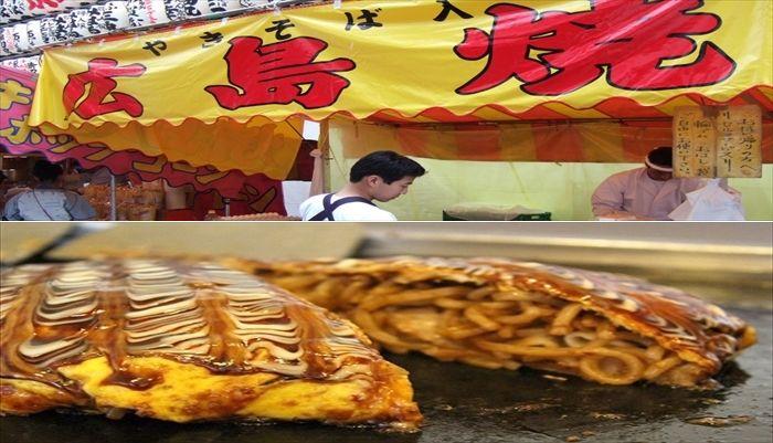 お祭りの屋台 広島焼き