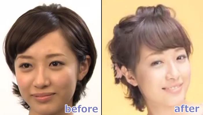 浴衣 髪型 ショート ヘアアレンジ5